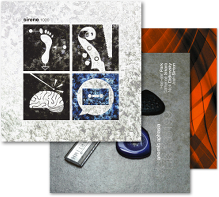 CD covers ('Anomic Aphasia,' 'numbers,' 'io 0.0.1 beta++' and 'Mathilde 253')