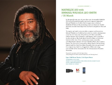 Mathilde 253 with Ishmael Wadada Leo Smith (FUAIM program page)