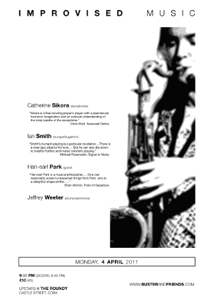 Catherine Sikora, Ian Smith, Han-earl Park and Jeffrey Weeter 04-04-11 poster