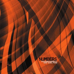CD cover of 'Numbers' (CS 201 cd) with Richard Barrett and Han-earl Park (copyright 2011, Creative Sources Recordings)