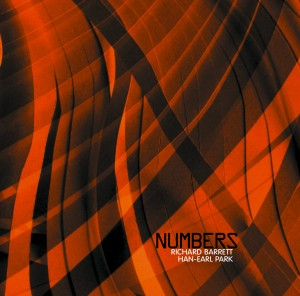 CD cover of Numbers (CS 201 cd) with Richard Barrett and Han-earl Park (copyright 2012, Creative Sources Recordings) 