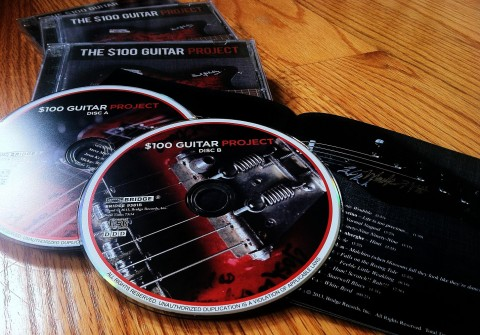'The $100 Guitar Project' (BRIDGE 9381A/B) (CD artwork copyright 2013, Bridge Records)