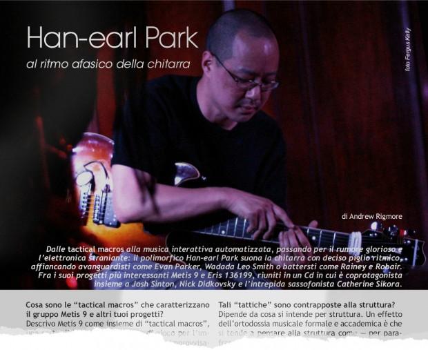 'Han-earl Park: al ritmo afasico della chitarra', jazzColo[u]rs (Sommario Ago./Set. 2015, Anno VIII, n. 8-9)