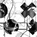 Caroline Pugh, Mark Sanders, Dominic Lash and Han-earl Park (copyright 2016 Jordan Hutchings, 2016 Bruce Coates, Andrew Putler, 2010 Seán Kelly, and 2014 Han-earl Park)