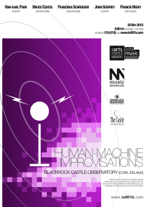 Human-Machine Improvisations (Cork, 2010) poster