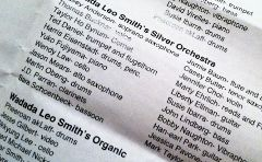 Silver Orchestra lineup 12-16-11
