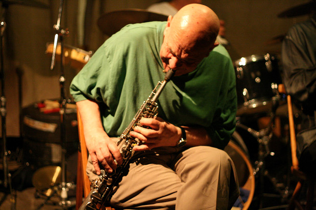 Lol Coxhill (Cafe OTO, London, April 18, 2010). Photo copyright 2010 Seán Kelly.