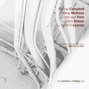 artwork for Murray Campbell, Randy McKean with Han-earl Park, plus Gino Robair and Scott R. Looney: Gargantius Effect +1 +2 +3 (Nor Cal, 08-2011)